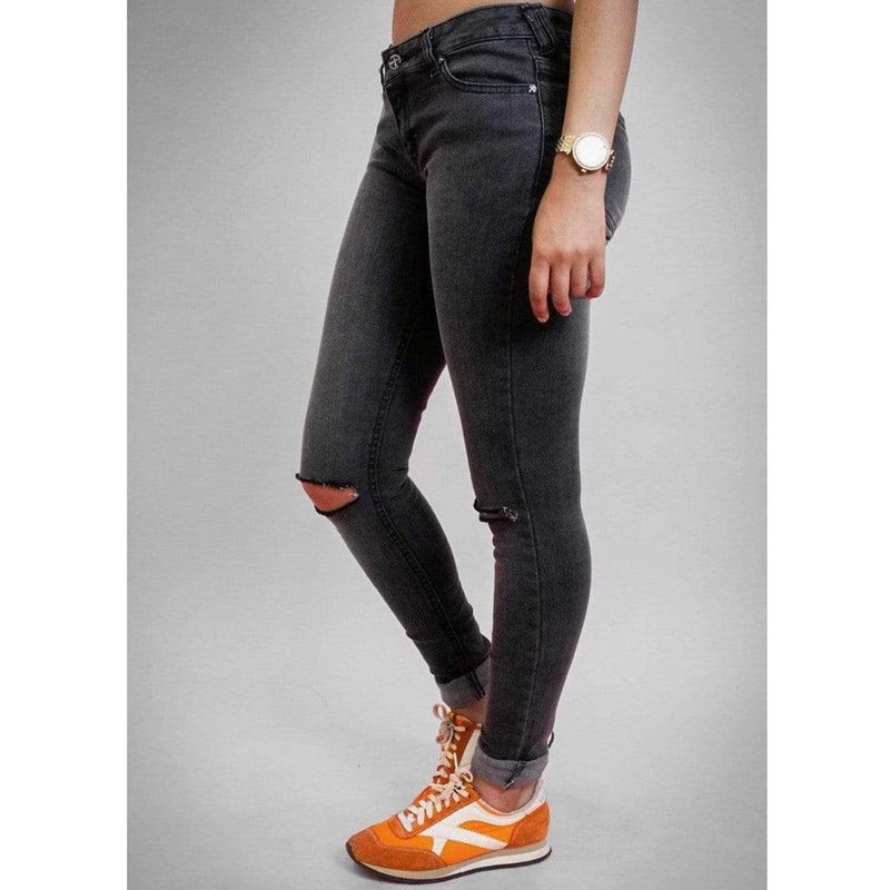 SOS Ripper Skinny Jeans - Snow Wash