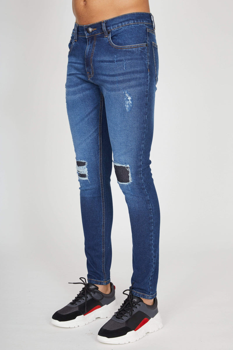 Criminal Damage JEANS Sustainable Shelby Skinny Jeans - Mid Blue