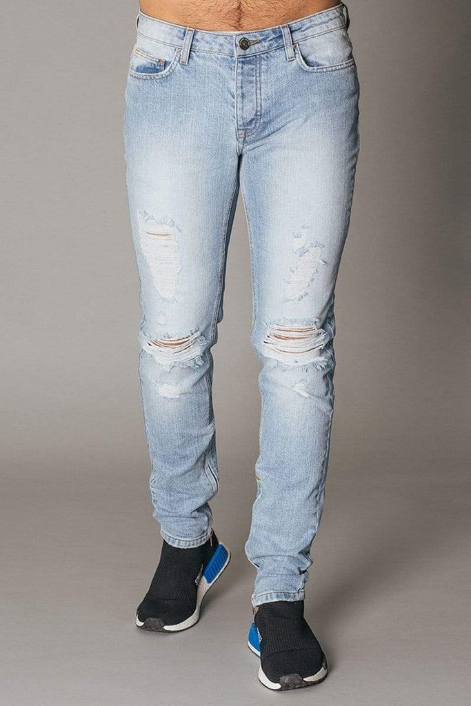 Criminal Damage JEANS Uzi Jeans - Bleach Wash