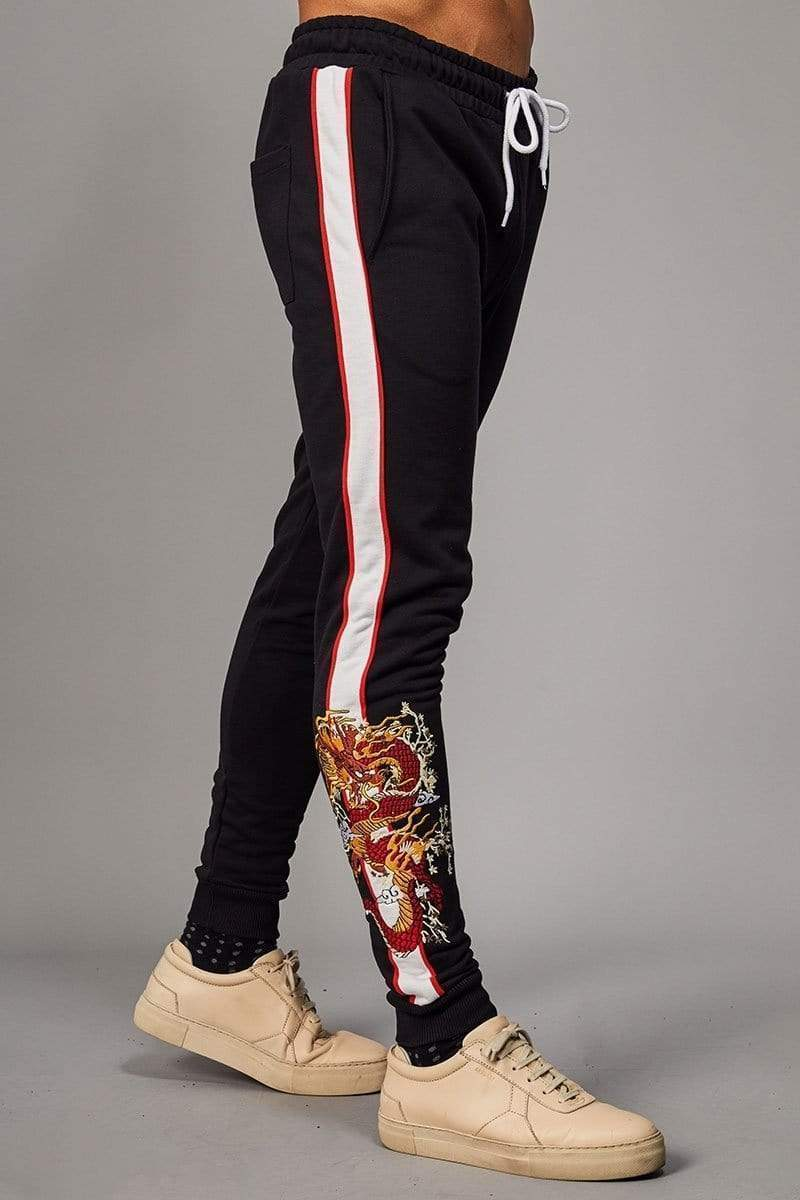 Criminal Damage JOGGERS Band Jogger - Black/ Multi