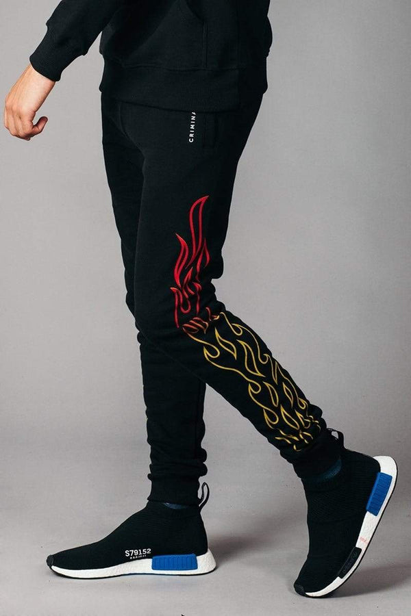 Criminal Damage JOGGERS Blaze Jogger - Black