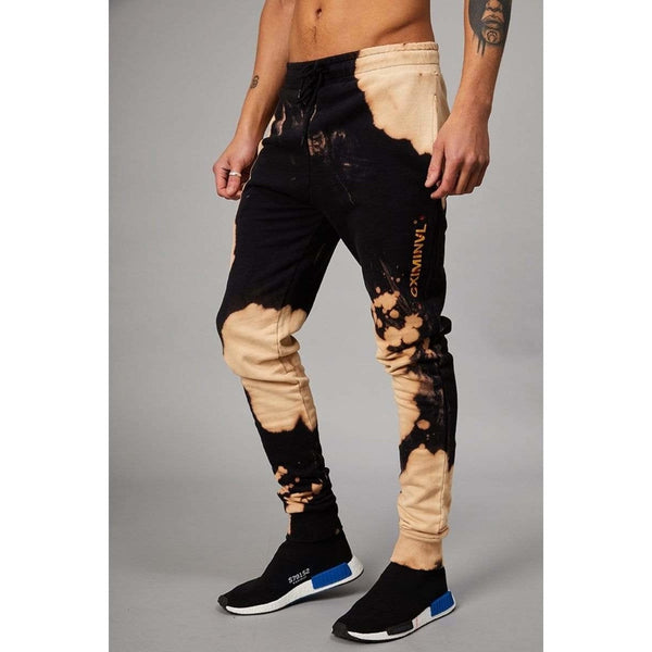 Criminal Damage JOGGERS Bleach Joggers - Black/Tan