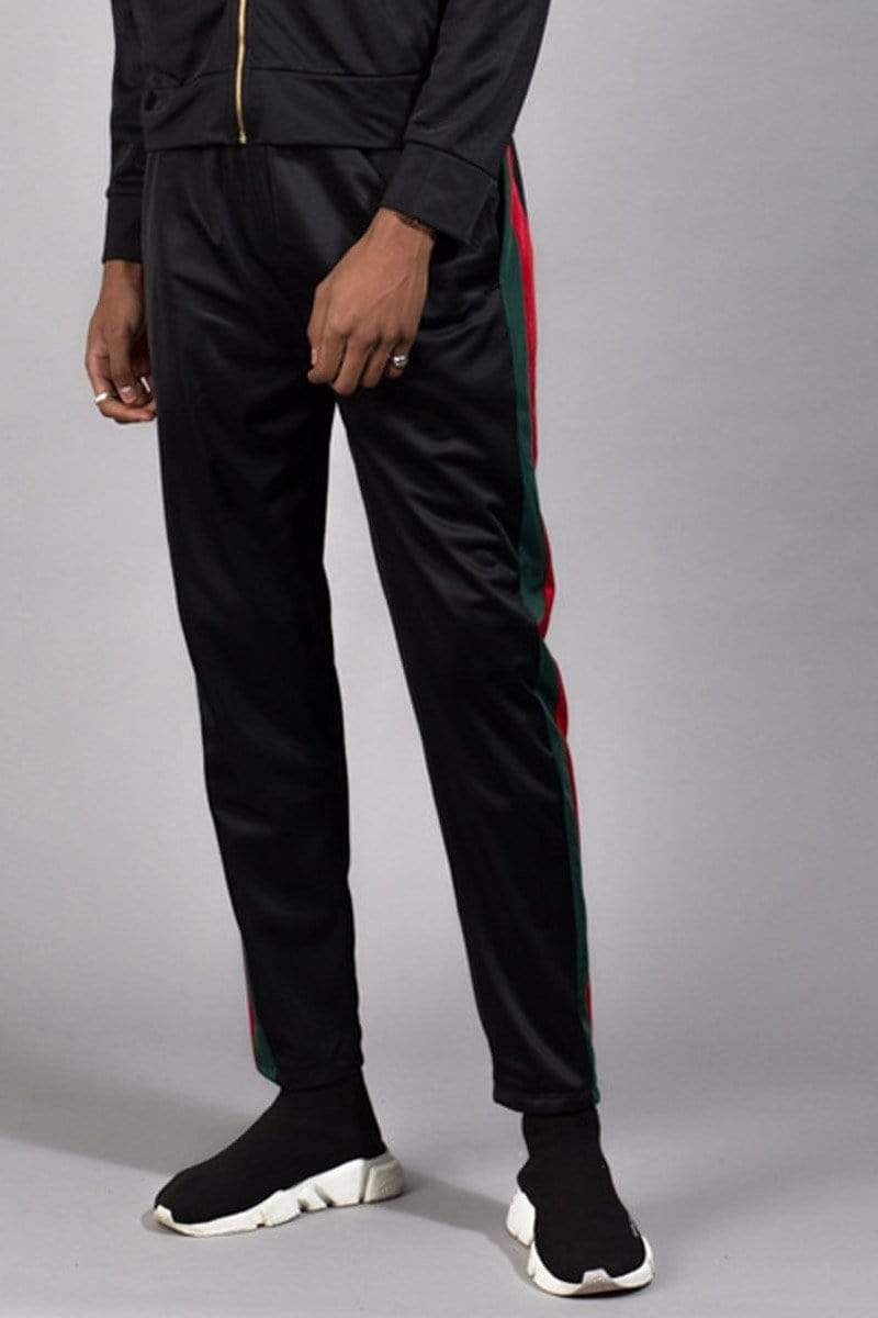 Criminal Damage JOGGERS Cuccio Track Pants - Black/Multi