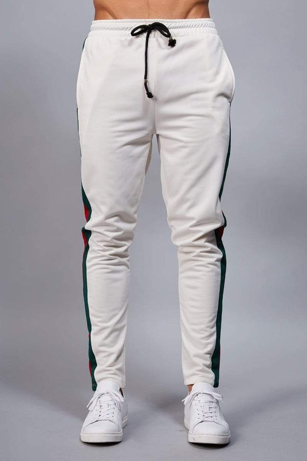 Criminal Damage JOGGERS Cuccio Track Pants - White/ Multi