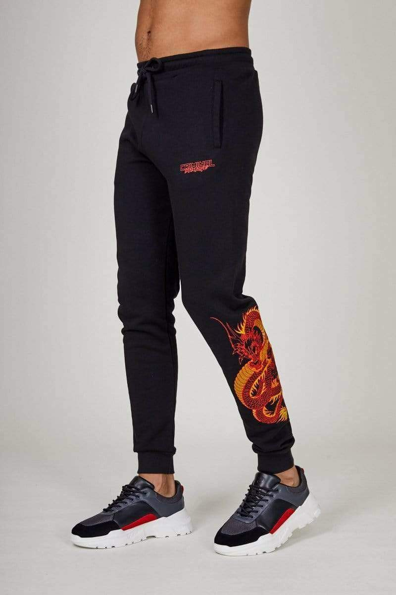 Criminal Damage JOGGERS DRAGON EMBROIDERY JOGGER