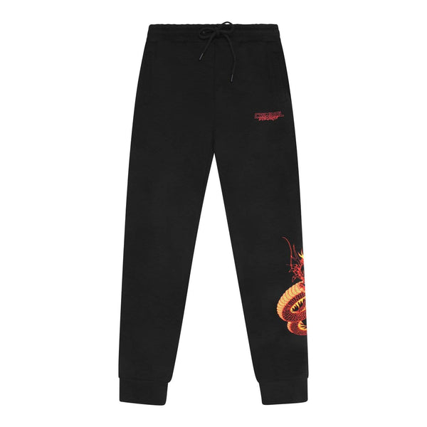 Criminal Damage JOGGERS Dragon Embroidery Jogger - Black/Multi