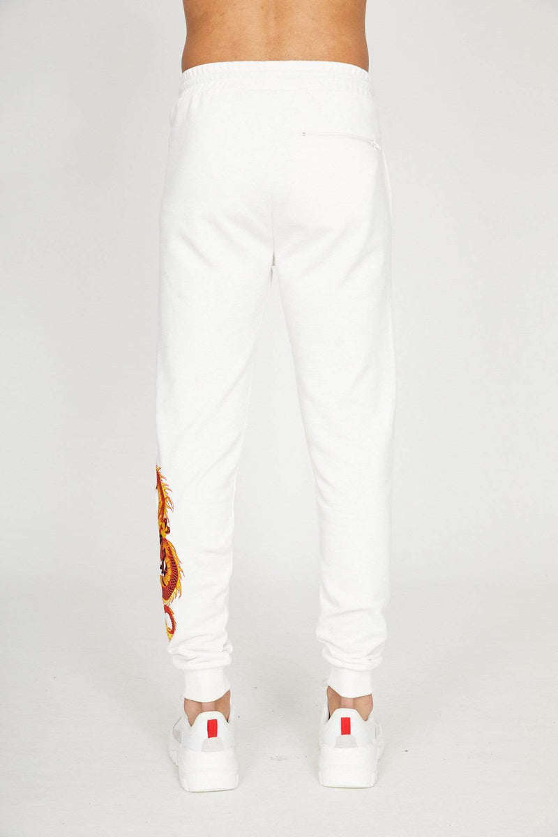 Dragon Embroidery Jogger - Offwhite