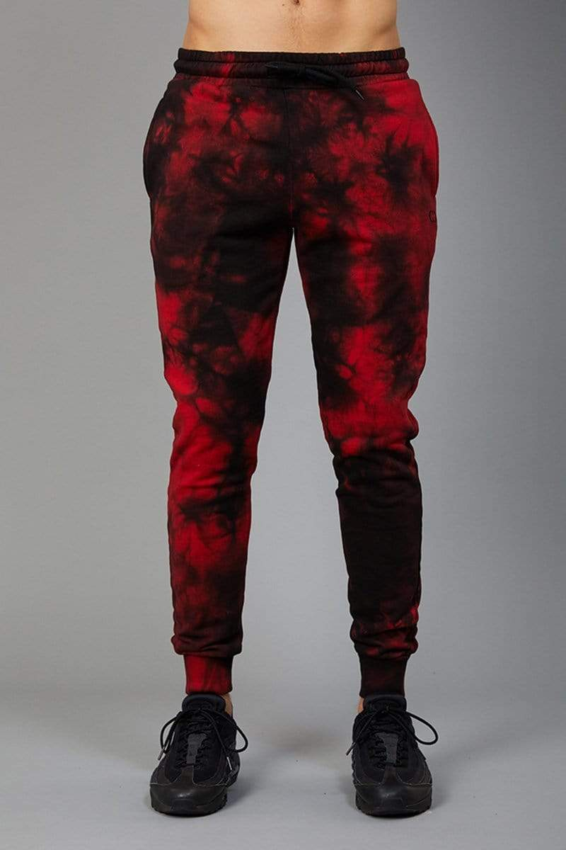 Criminal Damage JOGGERS Dye Joggers - Black/Red