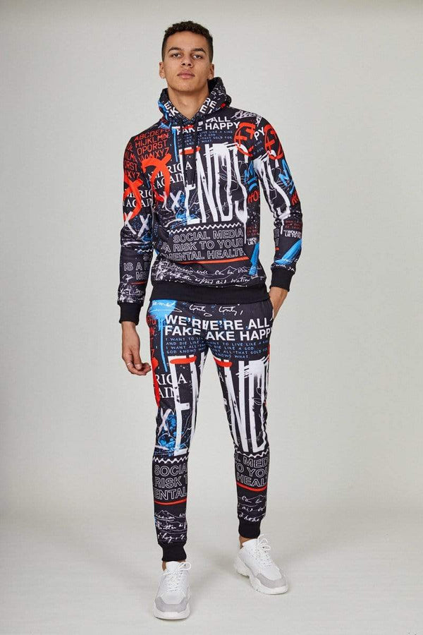 Criminal Damage JOGGERS Graffiti Jogger - Black Multi
