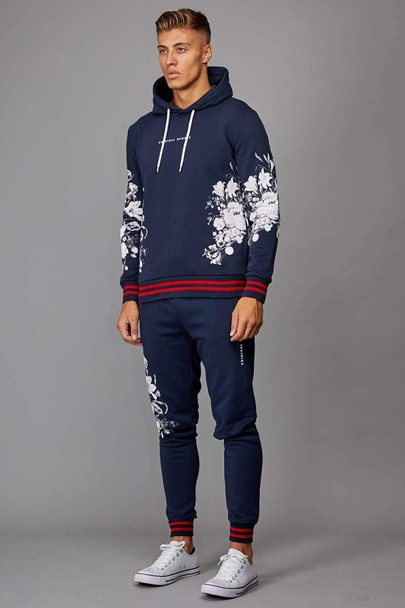 Criminal Damage JOGGERS Hyde Jogger - Navy/ Multi