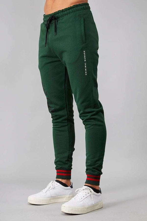 Criminal Damage JOGGERS Hyde Jogger - Olive/ Multi