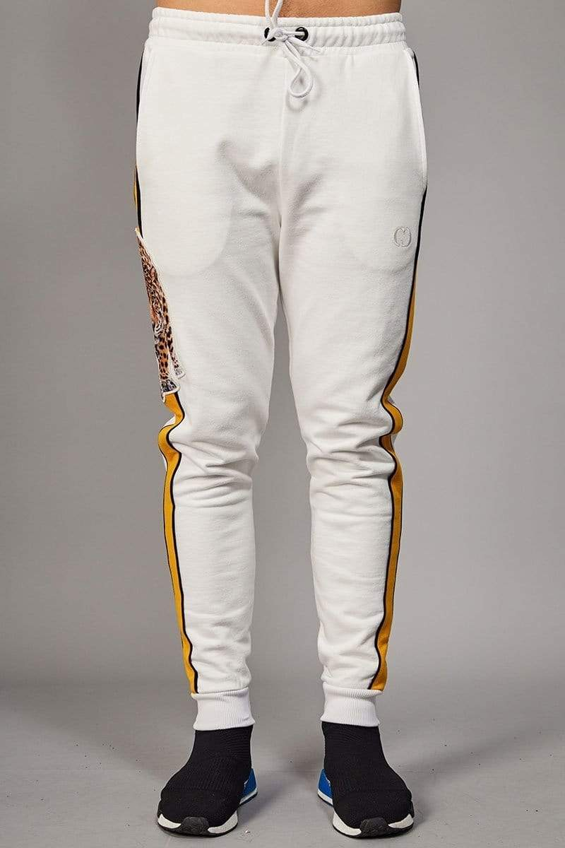 Criminal Damage JOGGERS Panther Jogger - Off White/ Multi