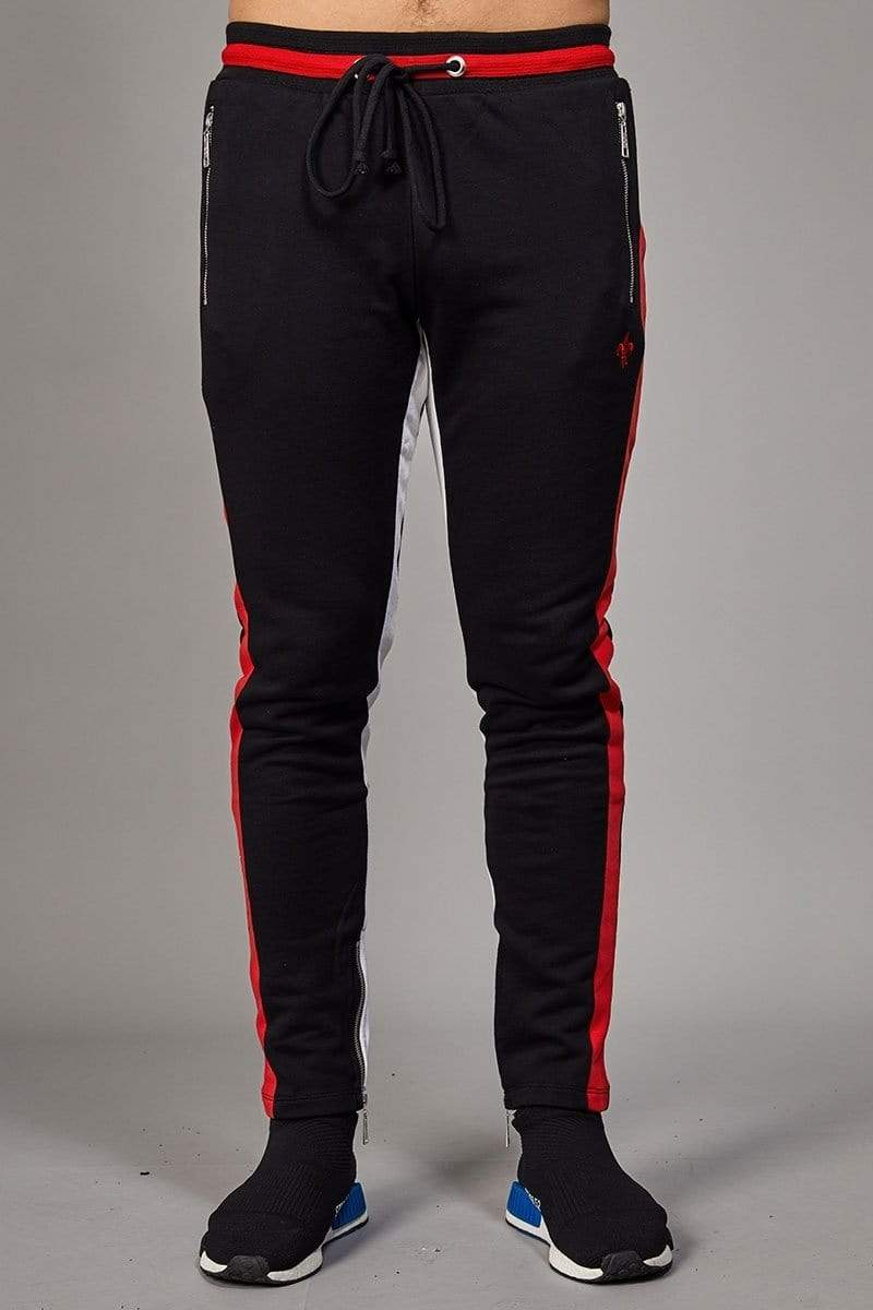 Criminal Damage JOGGERS Roman Track Jogger - Black/ Multi