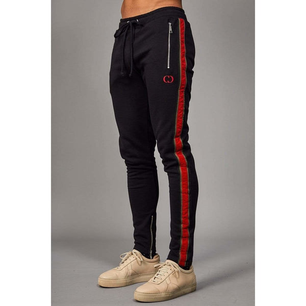 Criminal Damage JOGGERS Safron Jogger - Black/Red
