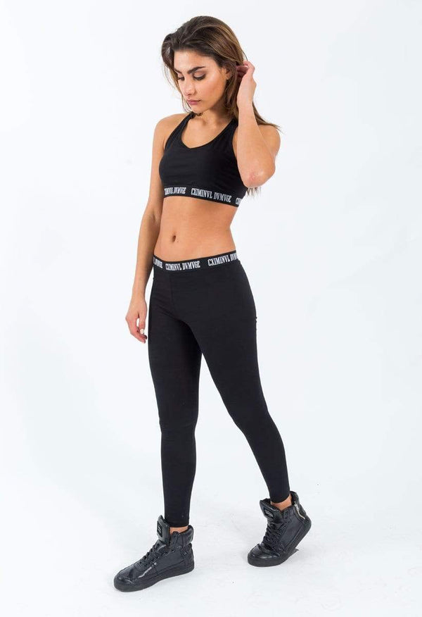 Criminal Damage LEGGINGS Black / XS Basic Leggings