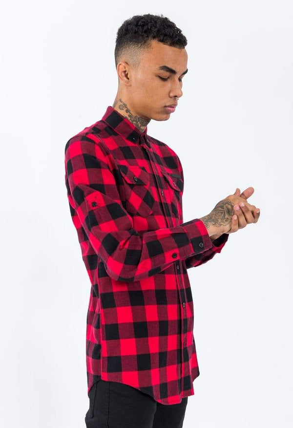 Criminal Damage SHIRT Criminal Damage Shirt - Jack Long Red