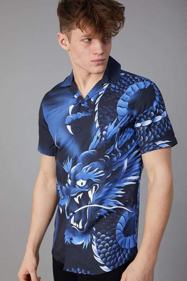 Criminal Damage SHIRT Dragon SS Shirt - Blue