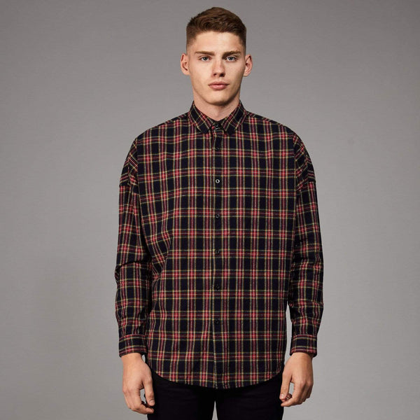 Jack Oversized Shirt - Black / Red