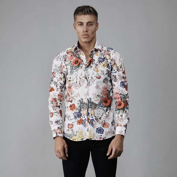 Popp Shirt - White/ Multi