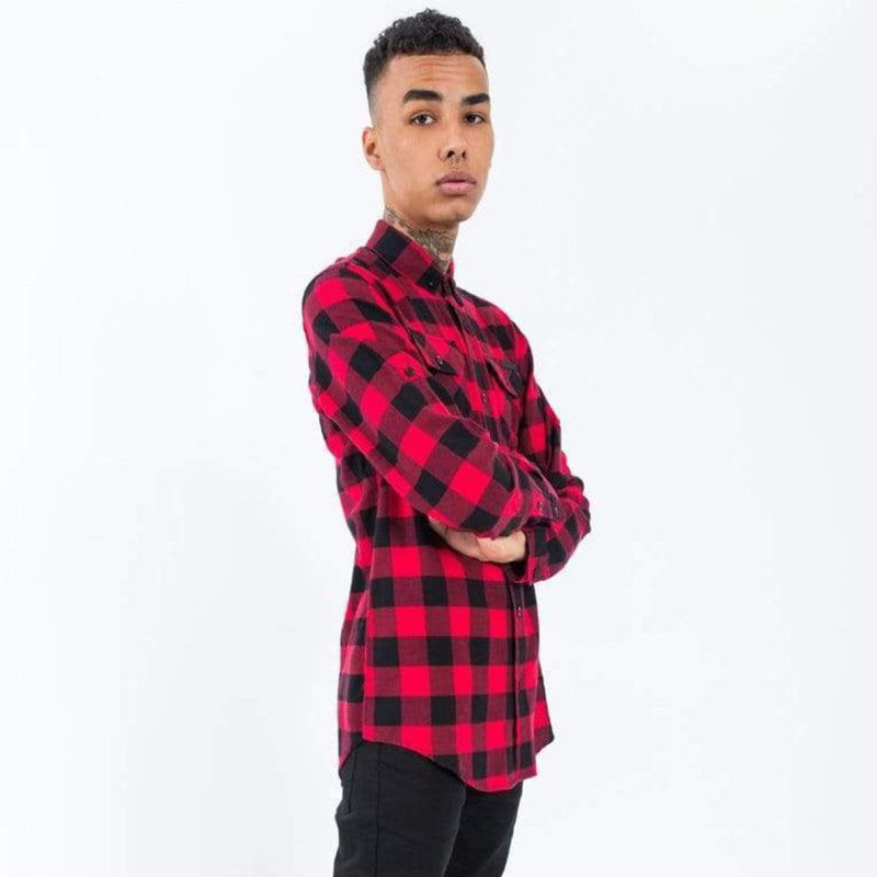 Criminal Damage Shirt - Jack Long Red