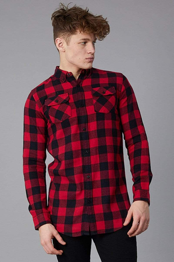 Criminal Damage SHIRT Red / XS Jack Print Shirt