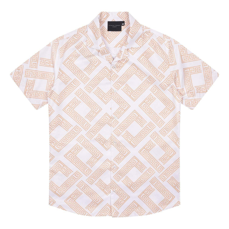 Roman Shirt - White/Gold