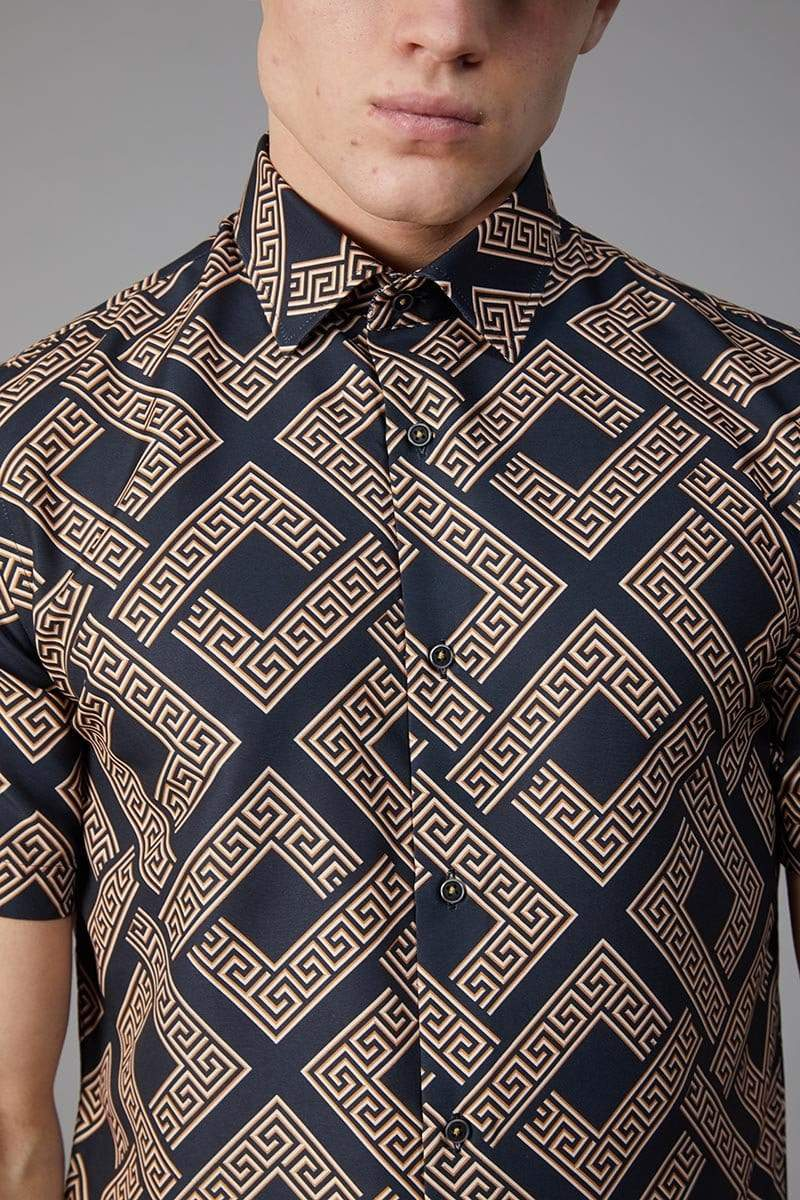 Criminal Damage SHIRT Roman SS Shirt - Gold
