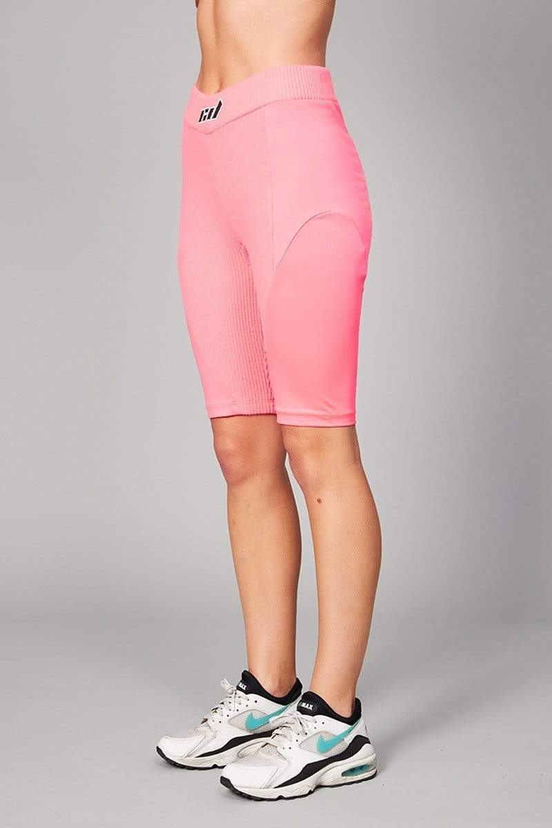 Criminal Damage SHORTS Jasmine Structured Shorts With Logo - Pink