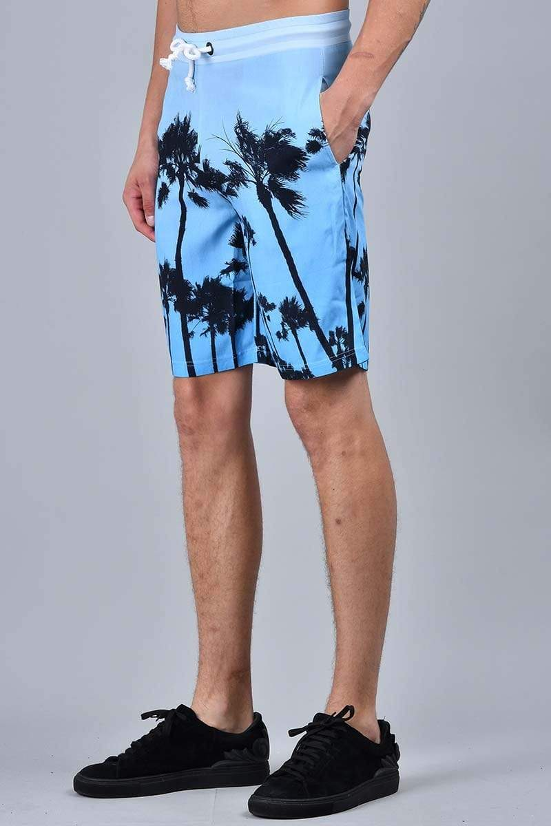 Criminal Damage SHORTS Palm Shorts - Blue