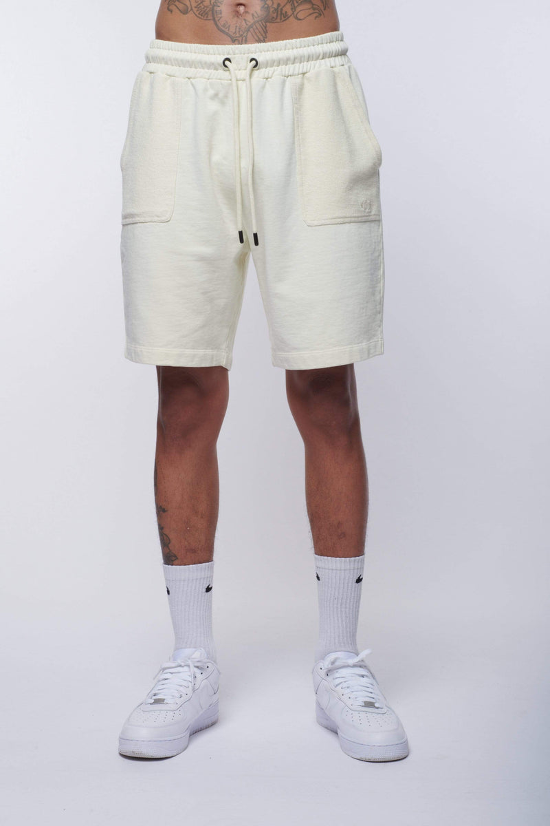 Criminal Damage SHORTS REVERSE LOOPBACK SHORT - BEIGE