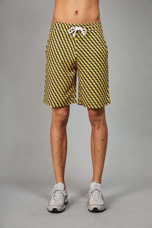 Criminal Damage SHORTS XS Zizi Shorts - Yellow/Navy