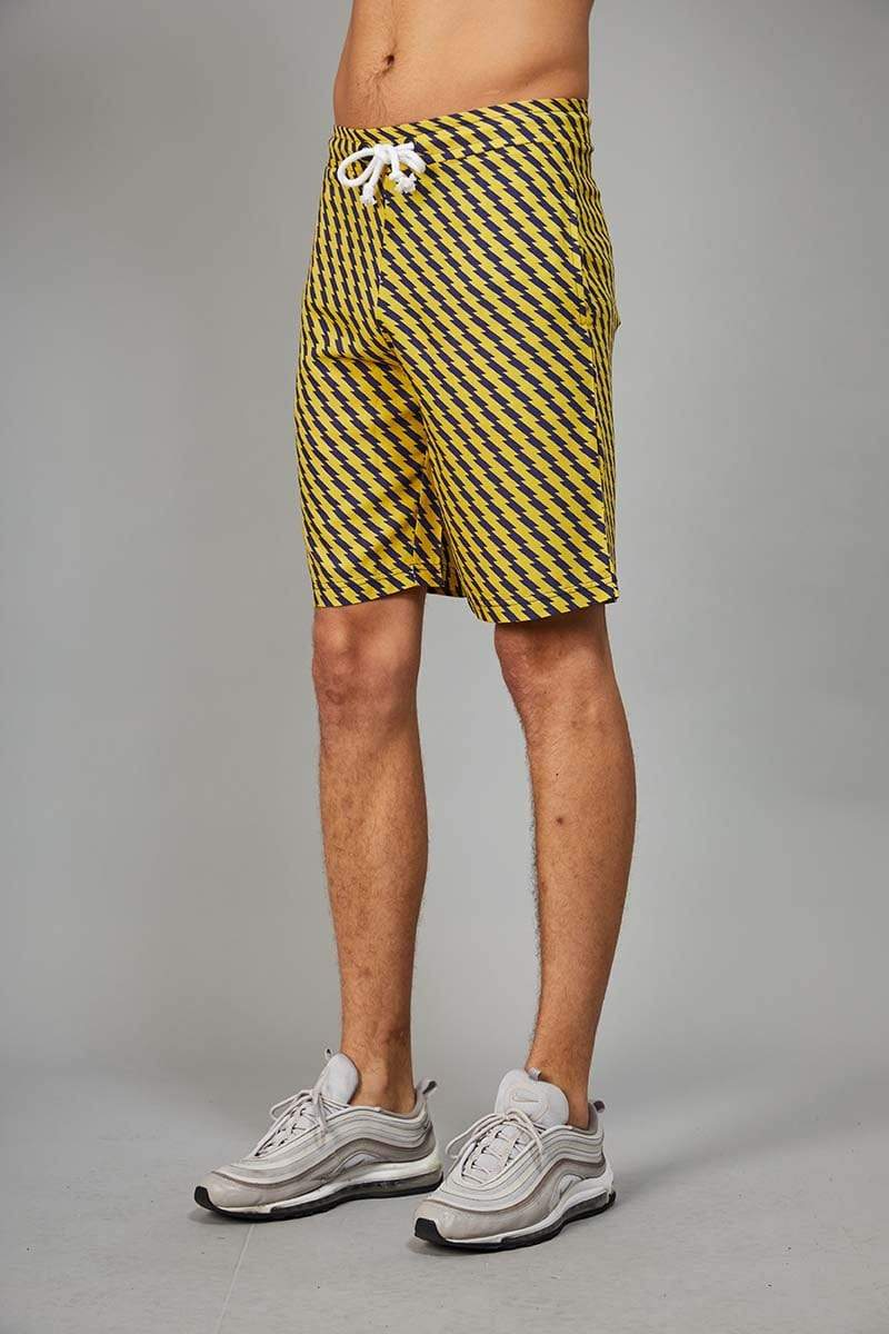 Criminal Damage SHORTS Zizi Shorts - Yellow/Navy