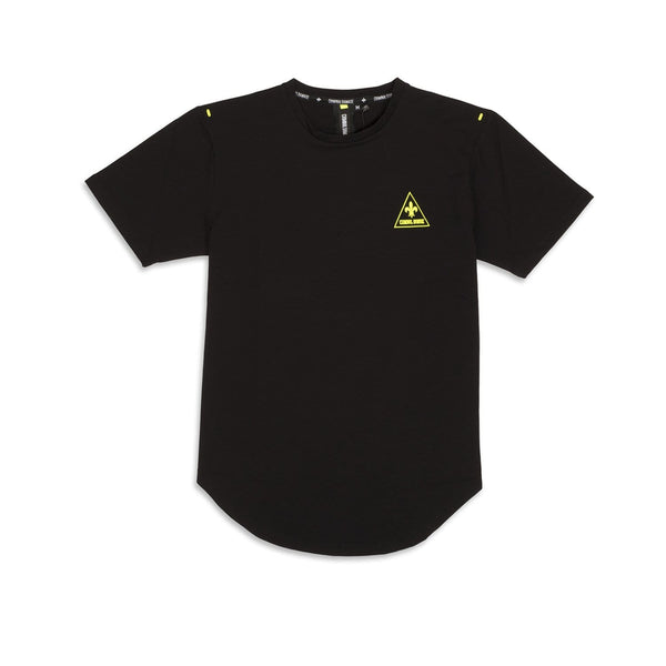 Criminal Damage Store CAUTION TEE BLACK - SIZE M