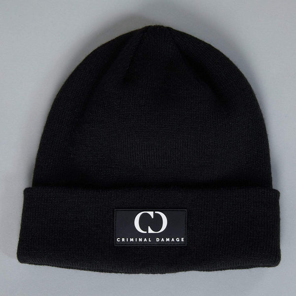 Criminal Damage Store Core Beanie Black