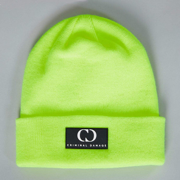 Criminal Damage Store Core Beanie Neon