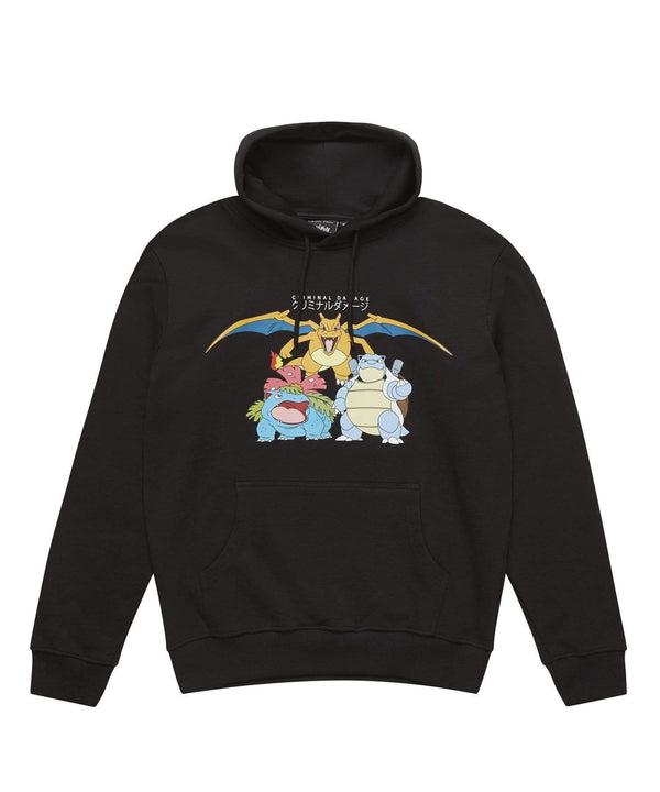 Criminal Damage store HOODIE Pokemon Starter Hood - Black
