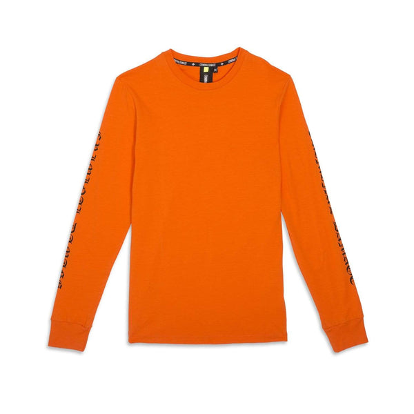 Criminal Damage Store LOGO LS TOP ORANGE - SIZE M