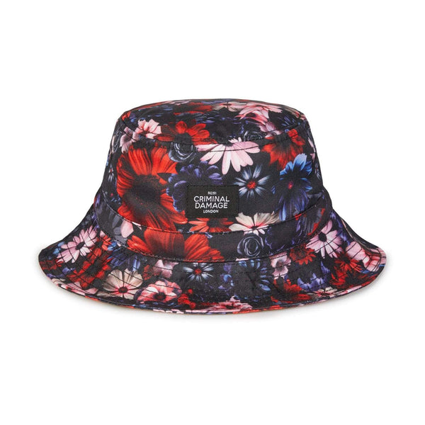 Floral Bucket Hat - Red