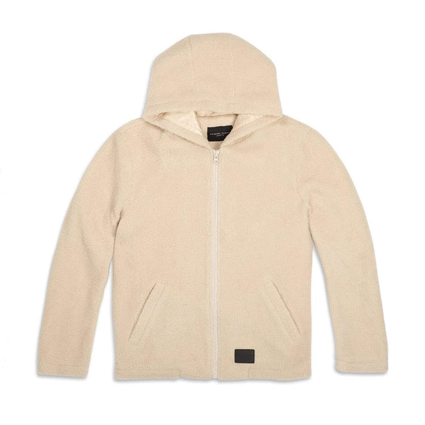 Criminal Damage Store SHERPA HOOD JACKET CREAM - SIZE M