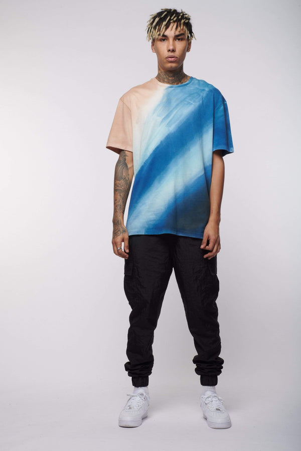 Criminal Damage Store T-SHIRT BLUE TIE DYE TEE - MULTI