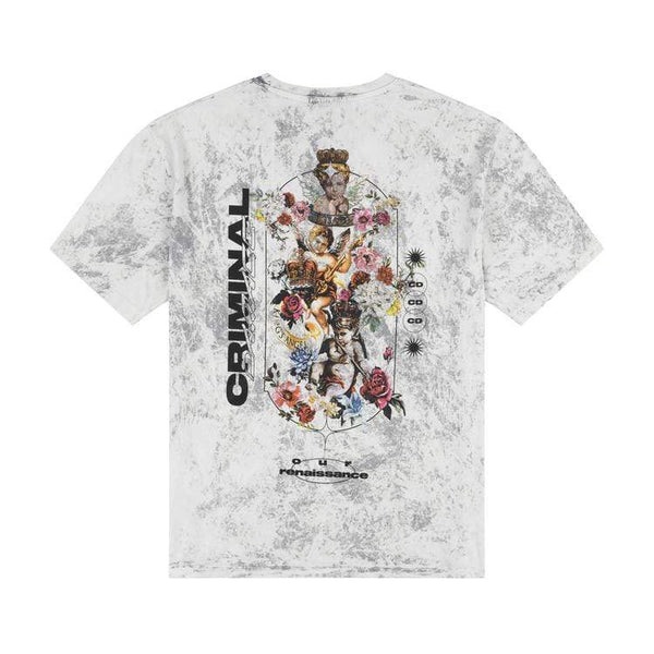 Criminal Damage Store T-SHIRT CHERUB TEE - GREY WASH