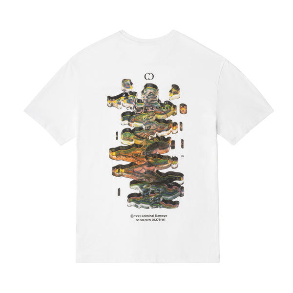 Criminal Damage Store T-SHIRT DNA TEE - WHITE