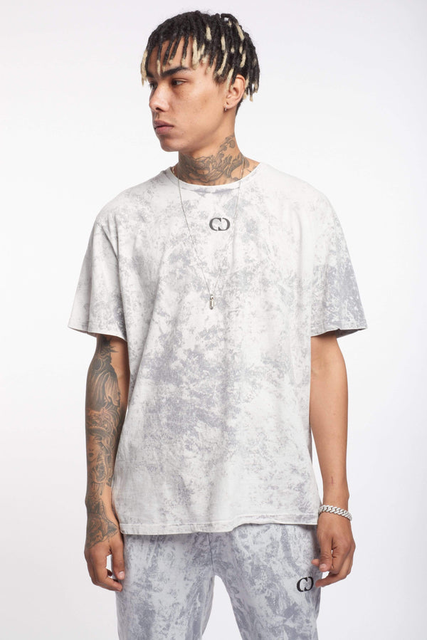 Criminal Damage Store T-SHIRT HYBRID TEE - GREY WASH