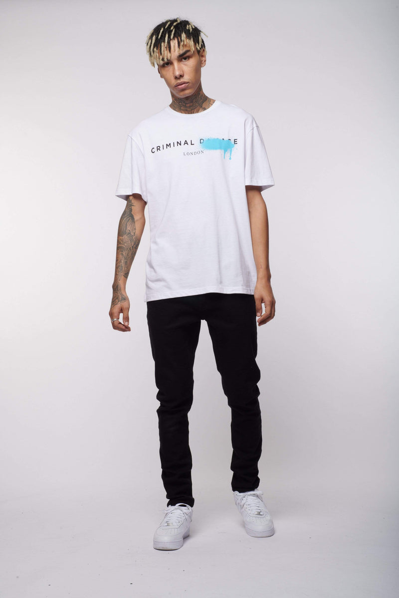 Criminal Damage Store T-SHIRT SYSTEM TEE  - WHITE