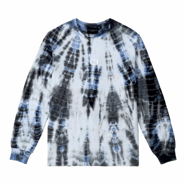 Criminal Damage Store T-SHIRT TYE DYE MOON LS TOP - BLUE
