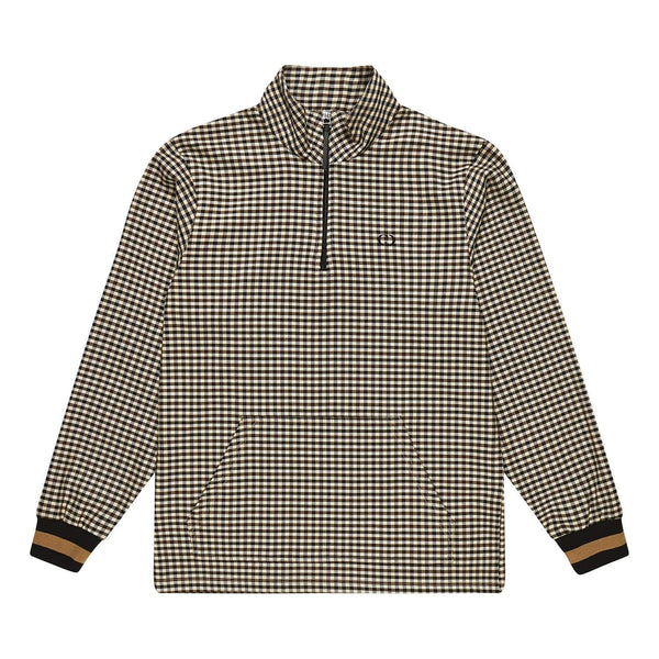 Dogtooth Track Pullover - Grey / Brown