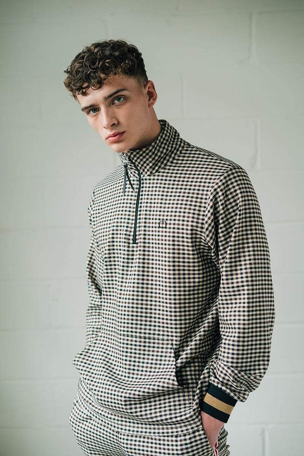 Criminal Damage SWEATSHIRT Dogtooth Track Pullover - Grey