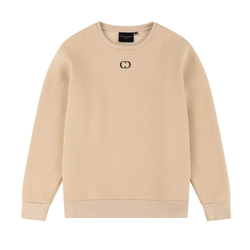 Criminal Damage SWEATSHIRT Essential Sweat- Beige