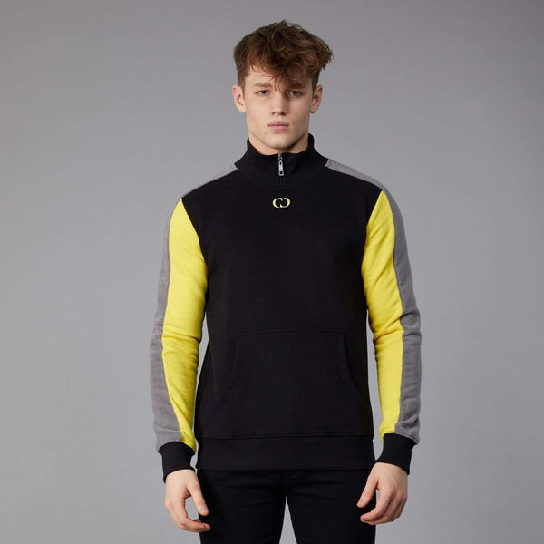 Esteban Fleece Track Top - Black