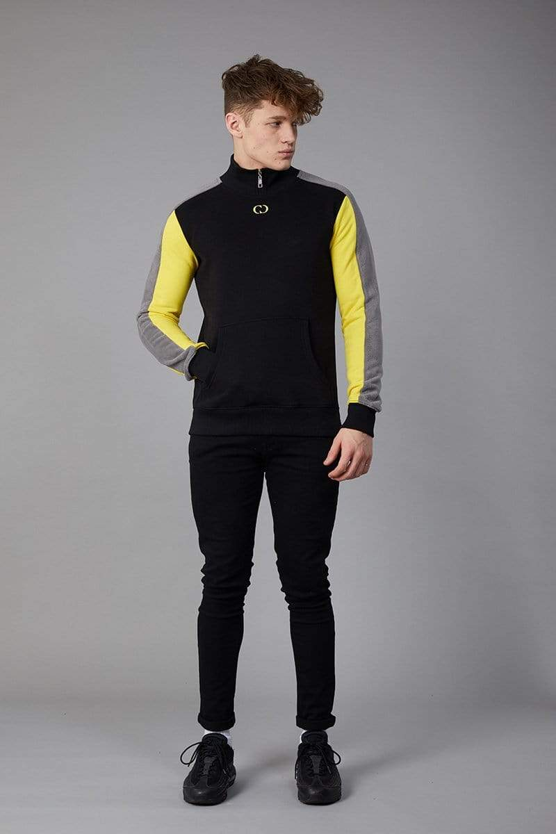 Criminal Damage SWEATSHIRT Esteban Track Top - Black